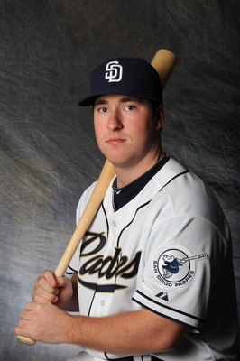PEORIA, AZ - FEBRUARY 27:  Jedd Gyorko #70 of the San Diego Padres poses for a portrait during a photo day at Peoria Stadium on February 27, 2012 in Peoria, Arizona. (Photo by Rich Pilling/Getty Images)