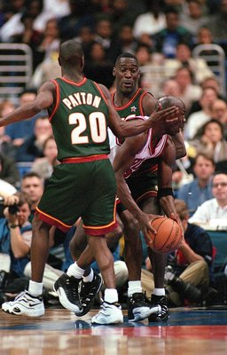 Gary Payton and Shawn Kemp
