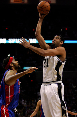 Tim Duncan and Rasheed Wallace