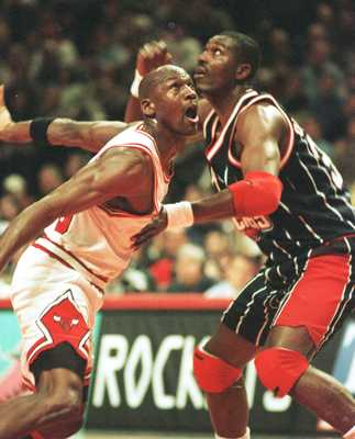 Michael Jordan and Hakeem Olajuwon