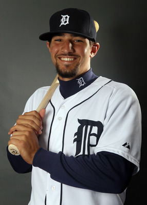 LAKELAND, FL - FEBRUARY 28:  Nick Castellanos #79 of the Detroit Tigers poses for a portrait on February 28, 2012 at Joker Marchant Staduim in Lakeland, Florida.  (Photo by Elsa/Getty Images)