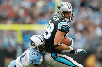 Greg Olsen is Cam Newton's security blanket.