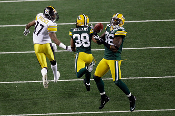 The Packers may not have won the Super Bowl without this interception by Collins.