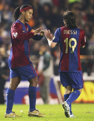 In 2006-07, Lionel Messi started to exert more influence over the team.