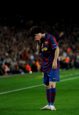 Messi could not find away around Inter Milan in the Champions League and had to settle for another La Liga title.
