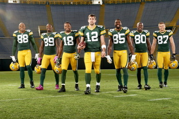 In what order will these guys be catching passes from reigning NFL MVP Aaron Rodgers?