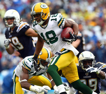 Dynamic second year receiver/returner Randall Cobb