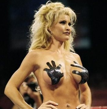 "Not sure how this qualifies as a ""bikini,"" but she did win the contest. (Image courtesy of LethalWOW.com)"