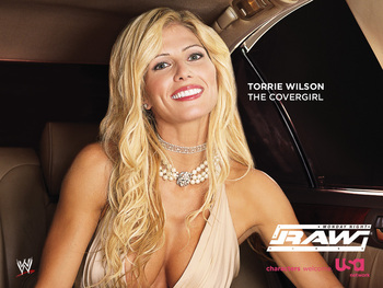 "While still apart of Raw on USA, Torrie was part of the network's ""Characters Welcome"" marketing campaign. Welcome, indeed. (Image courtesy of FanPop.com)"