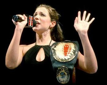 Daddy's Little Girl as the WWF Women's Champion. (Image courtesy of WWE.com)