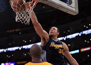 JaVale McGee gave the Nation a glimpse of his talent in the opening round of the playoffs.