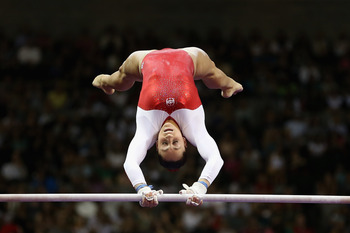 SAN JOSE, CA - JUNE 29:  Jordyn Wieber competes on the uneven bars during day 2 of the 2012 U.S. Olympic Gymnastics Team Trials at HP Pavilion on June 29, 2012 in San Jose, California.  (Photo by Ezra Shaw/Getty Images)