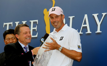 Matt Kuchar with his first victory of this year at The Players Championship