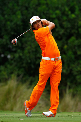 Rickie Fowler in his signature orange.