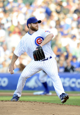 CHICAGO, IL - MAY 19: Ryan Dempster #46 of the Chicago Cubs pitches against the Chicago White Sox in the first inning on May 19 2012 at Wrigley Field in Chicago, Illinois.  (Photo by David Banks/Getty Images)
