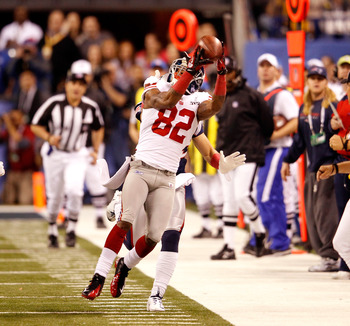 Manningham's great catch helped the Giants win the Super Bowl.