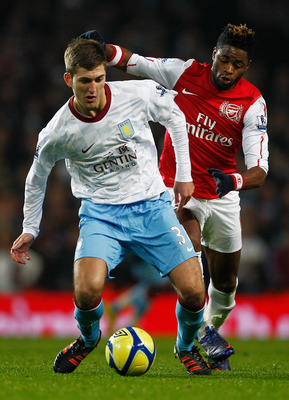 Gardner in action against Arsenal in last season's FA Cup.