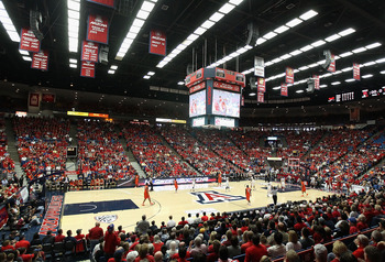 TUCSON, AZ - DECEMBER 10:  General view of action between the Clemson Tigers and the Arizona Wildcats during the college basketball game at McKale Center on December 10, 2011 in Tucson, Arizona.  The Wildcats defeated the Tigers 63-47.  (Photo by Christia