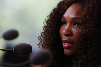 Serena Williams look to follow suit with her sister and gain her first match win today