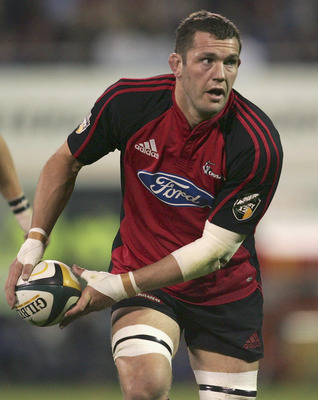 CHRISTCHURCH, NEW ZEALAND - MAY 28:  Reuben Thorne of the Crusaders in action during the Super 12 Final between the Crusaders and the NSW Waratahs held at Jade Stadium May 28, 2005 in Christchurch, New Zealand.  (Photo by Adam Pretty/Getty Images)