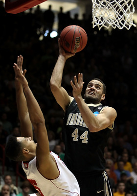 ALBUQUERQUE, NM - MARCH 17:  Jeffery Taylor #44 of the Vanderbilt Commodores puts up a shot against the Wisconsin Badgers during the third round of the 2012 NCAA Men's Basketball Tournament at The Pit on March 17, 2012 in Albuquerque, New Mexico. Wisconsi