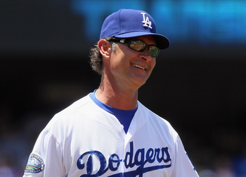 Don Mattingly has plenty of reasons to smile with the way his Los Angeles Dodgers are playing.
