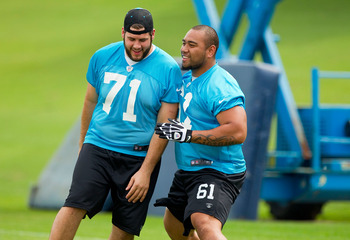 Amini Silatolu has already worked his way into first-team reps in OTA's.