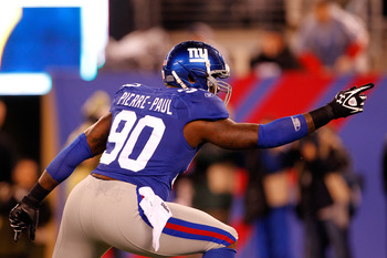 Jason Pierre-Paul is one of the team's best young pass rushers.
