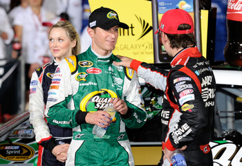 Kasey Kahne(left) finally got his first win for Hendrick Motorsports