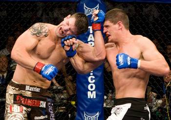 Cantwell (right) defeated Stann for the WEC light heavyweight title, but it's been downhill from there. Photo courtesy of MMASpot.com