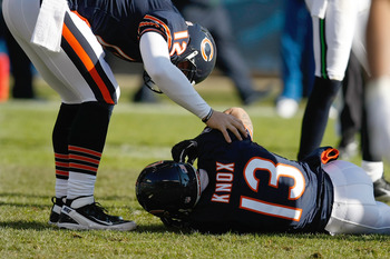 Johnny Knox wasn't the only Bear to go down at the end of last season.