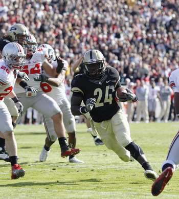 Purdue Running back Akeem Shavers
