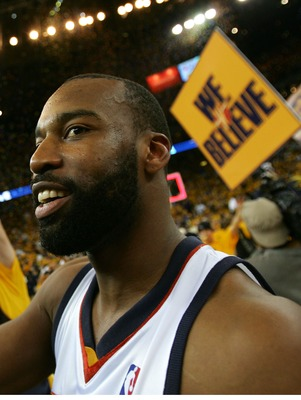 "Baron Davis and the ""We Believe"" Warriors took out the Dallas Mavericks."