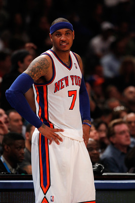 Knicks' forward Carmelo Anthony