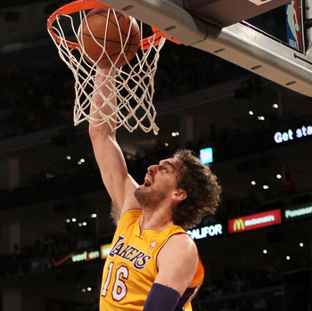 Lakers' forward Pau Gasol