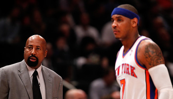 Mike Woodson was Carmelo's choice to coach the Knicks. Explain why that should be important.
