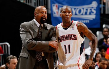 Mike Woodson and Jamal Crawford in the Atlanta days.