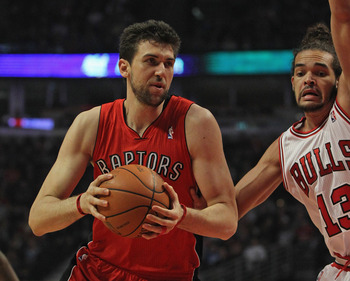 Andrea Bargnani has been solid but not quite worthy of his No. 1 selection.