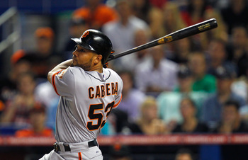 Melky Cabrera leads all major league batters with 78 hits.