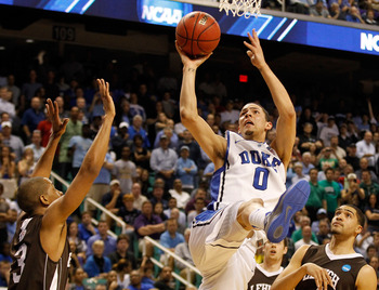 Austin Rivers (center) fights to the rim during the 2012 NCAA Tournament.