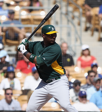Chris Carter, one of the A's young hitters