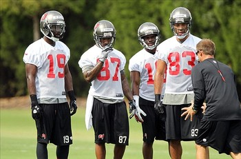 The WR corps is already learning from Vincent Jackson, both on and off the field (photo courtesy of US Presswire).