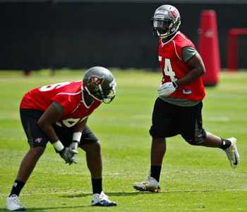 Lavonte David has spent much of his time during OTAs on the second team (photo courtesy of The Tampa Bay Times).