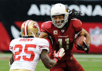 The 49ers' secondary can expect a Fitzgerald-heavy passing attack from the Cardinals.
