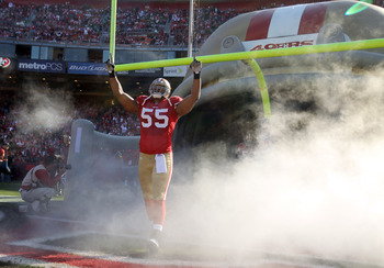 Ahmad Brooks will be celebrating another NFC West title in 2012.