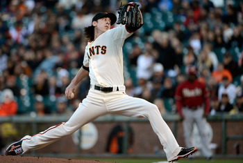 According to Mike Krukow, Tim needs to raise that pitching arm to solidify his mechanics.