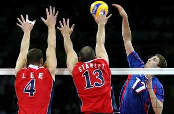 Reigning FIVB World League MVP Maxim Mikhaylov (No. 17)