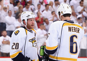 Ryan Suter and Shea Weber