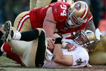 Justin Smith crushes Drew Brees in the playoffs