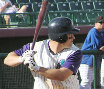 Myers in the 2004 Arizona Fall League. Photo courtesy of freewebs.com/cmacademy.